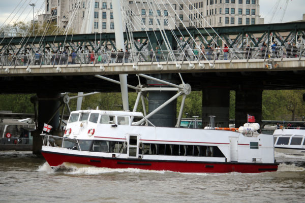 M.V Valulla passing Charing Cross Railway Bridge