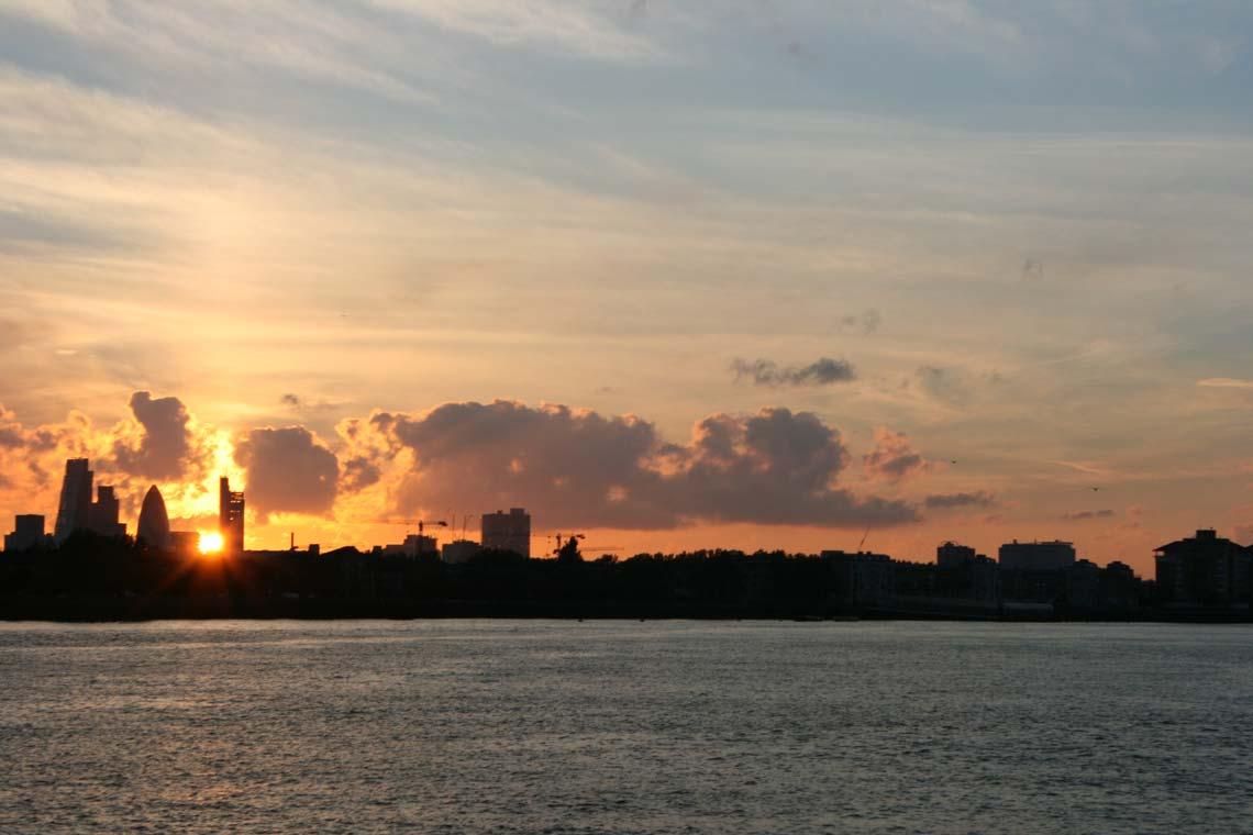 Greenwich Reach at dusk