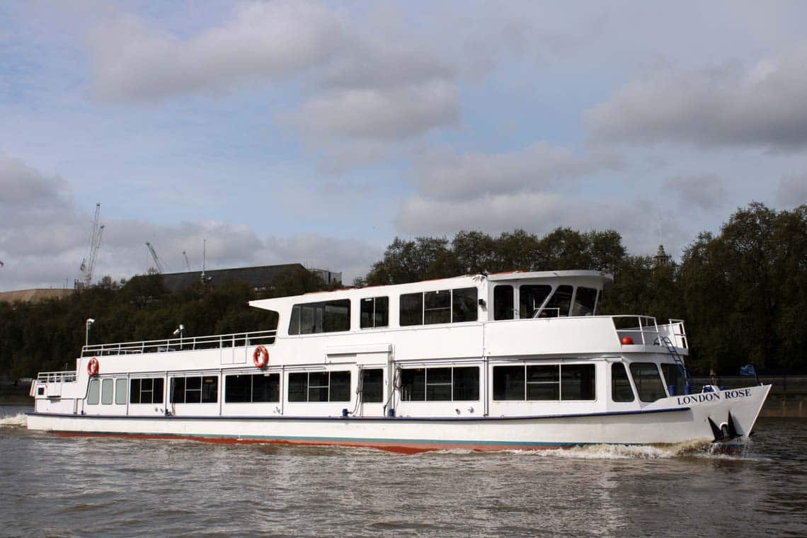 M.V London Rose passing Victoria Tower Gardens