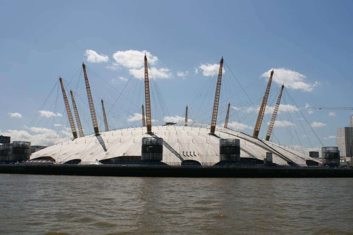 The O2, Greenwich Peninsula | Viscount Cruises