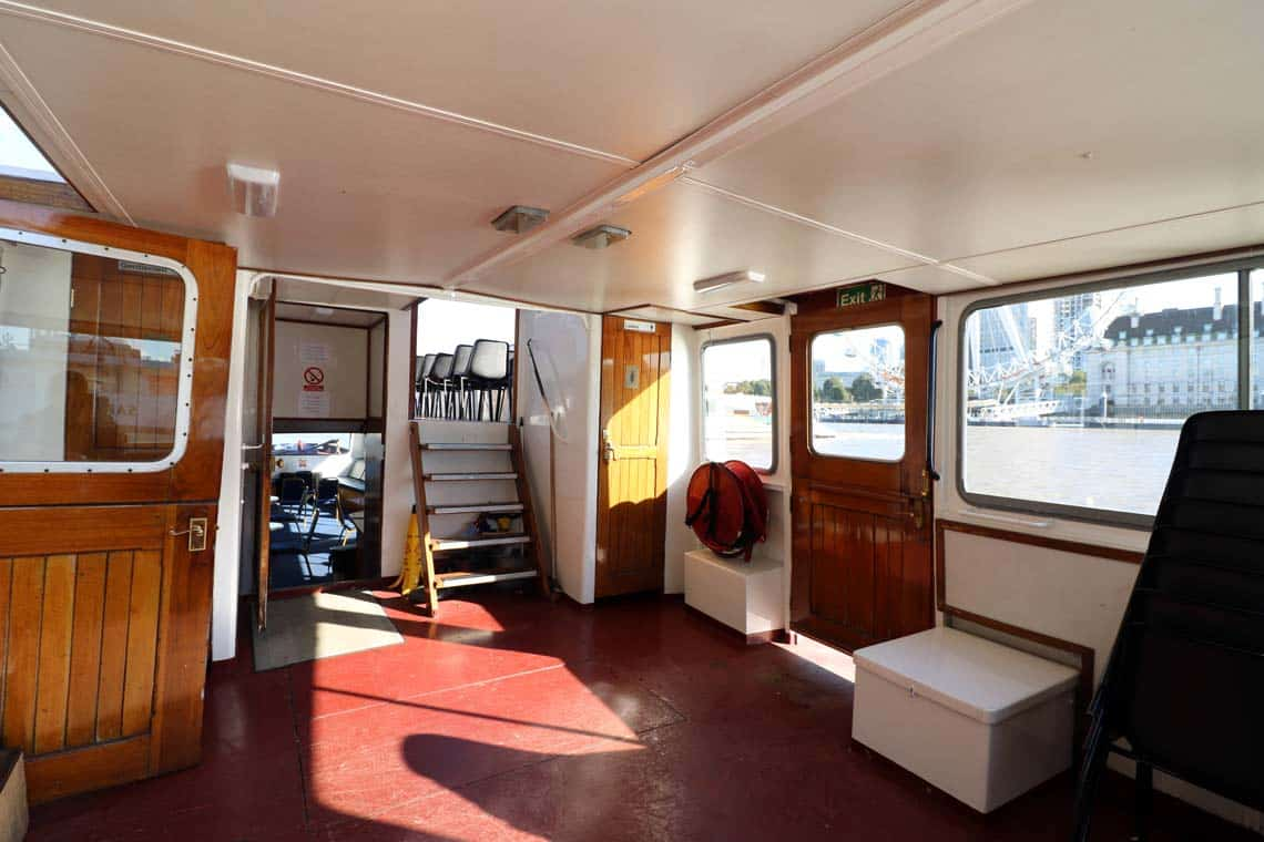 M.V Cockney Sparrow, Reception Deck | Viscount Cruises