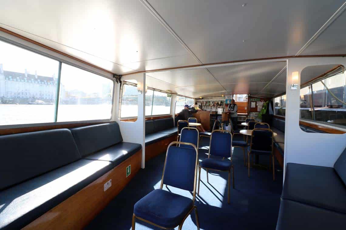 M.V Cockney Sparrow, Saloon | Viscount Cruises