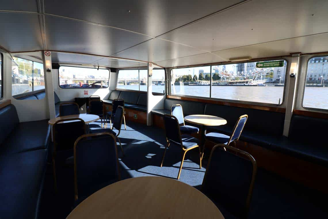 M.V Cockney Sparrow, Saloon | Viscount Cruises