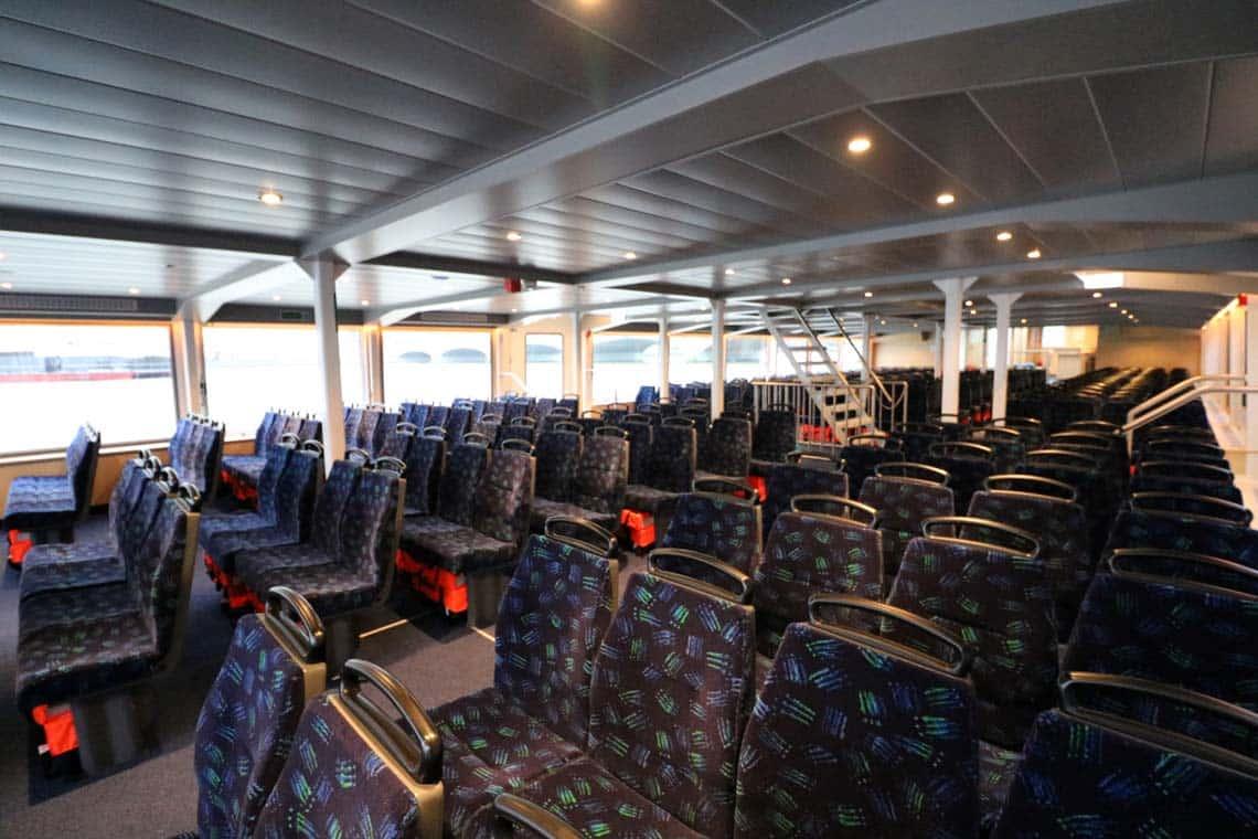 M.V Thomas Doggett, Saloon | Viscount Cruises / Thames River Services