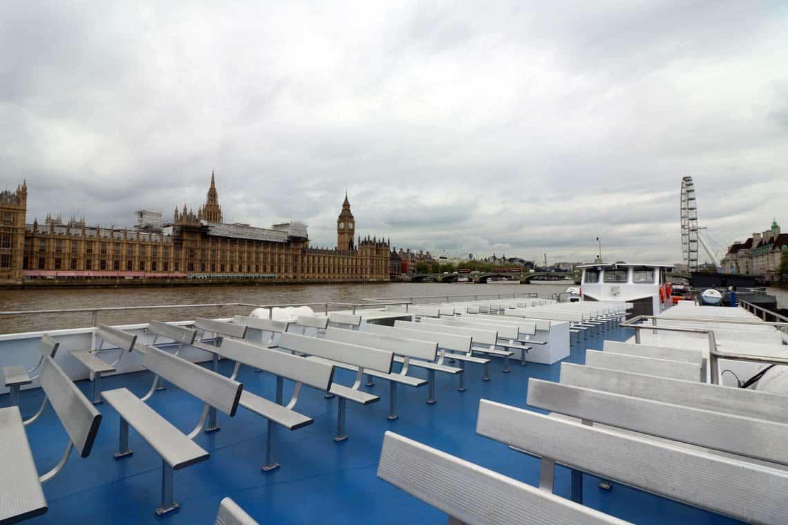 M.V Thomas Doggett, Upper Deck | Viscount Cruises / Thames River Services