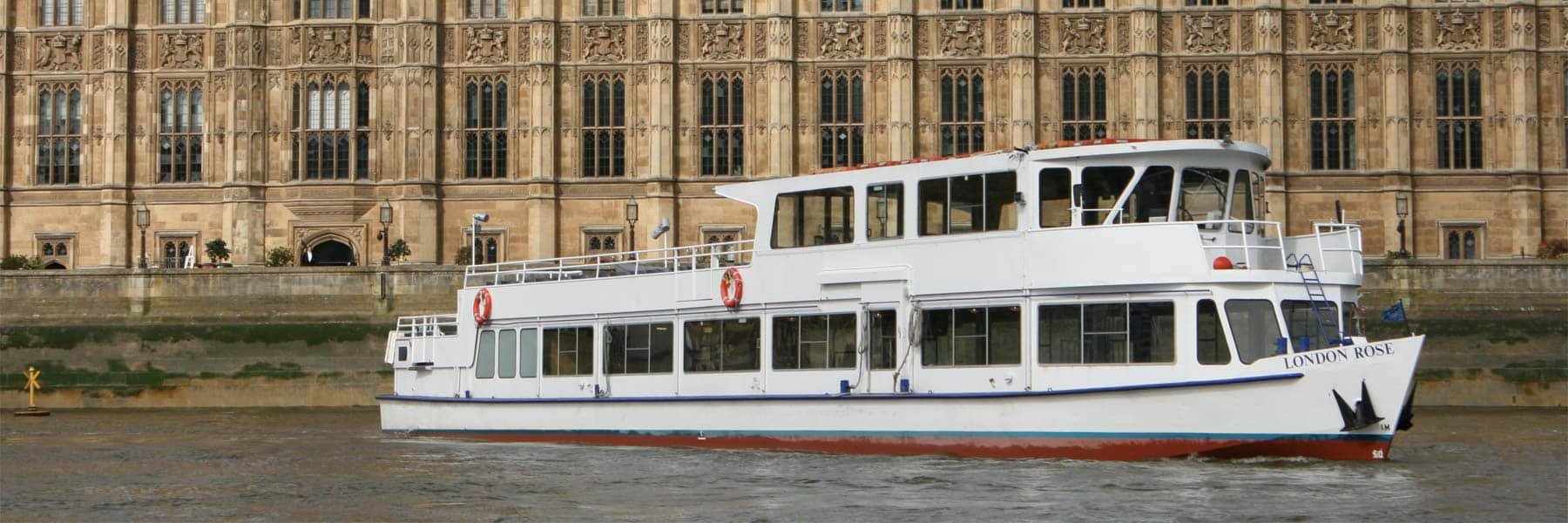M.V London Rose passing the New Palace of Westminster (Houses of Parliament)
