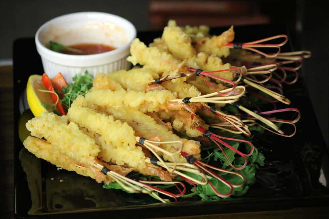 Tempura King Prawns with Sweet Chilli Dipping Sauce