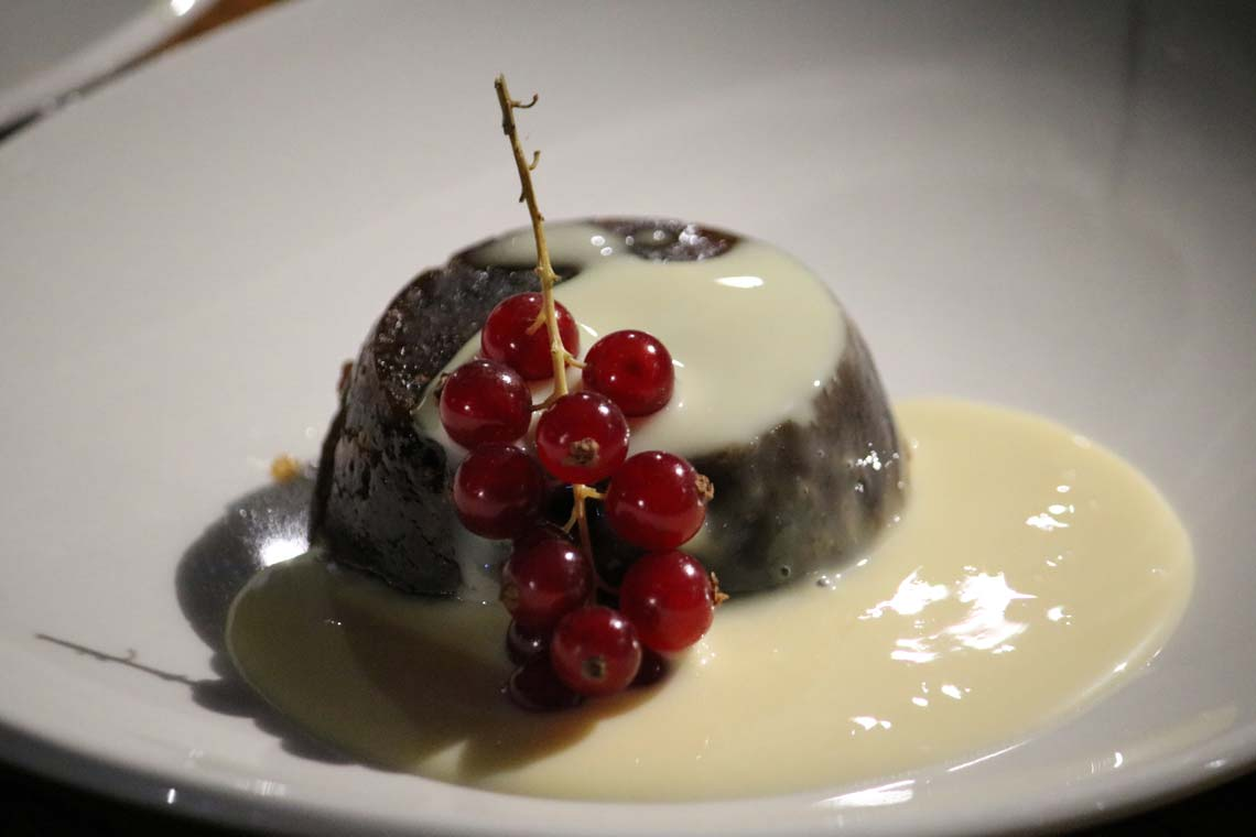 Christmas Pudding with Brandy Sauce