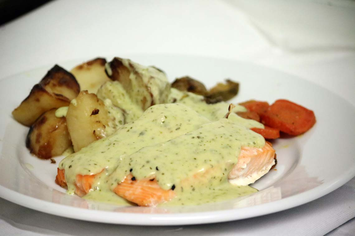 Oven Roasted Salmon with Watercress Sauce