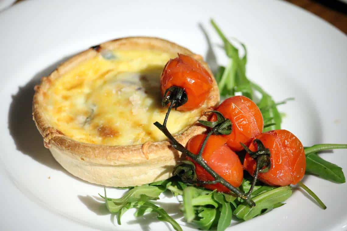 Stilton & Red Onion Tart with Roasted Cherry Tomatoes