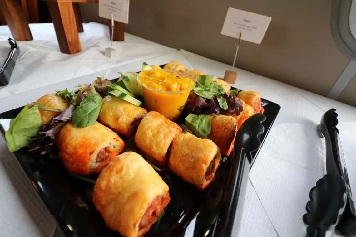 Chorizo Sausage Rolls with Piccalilli