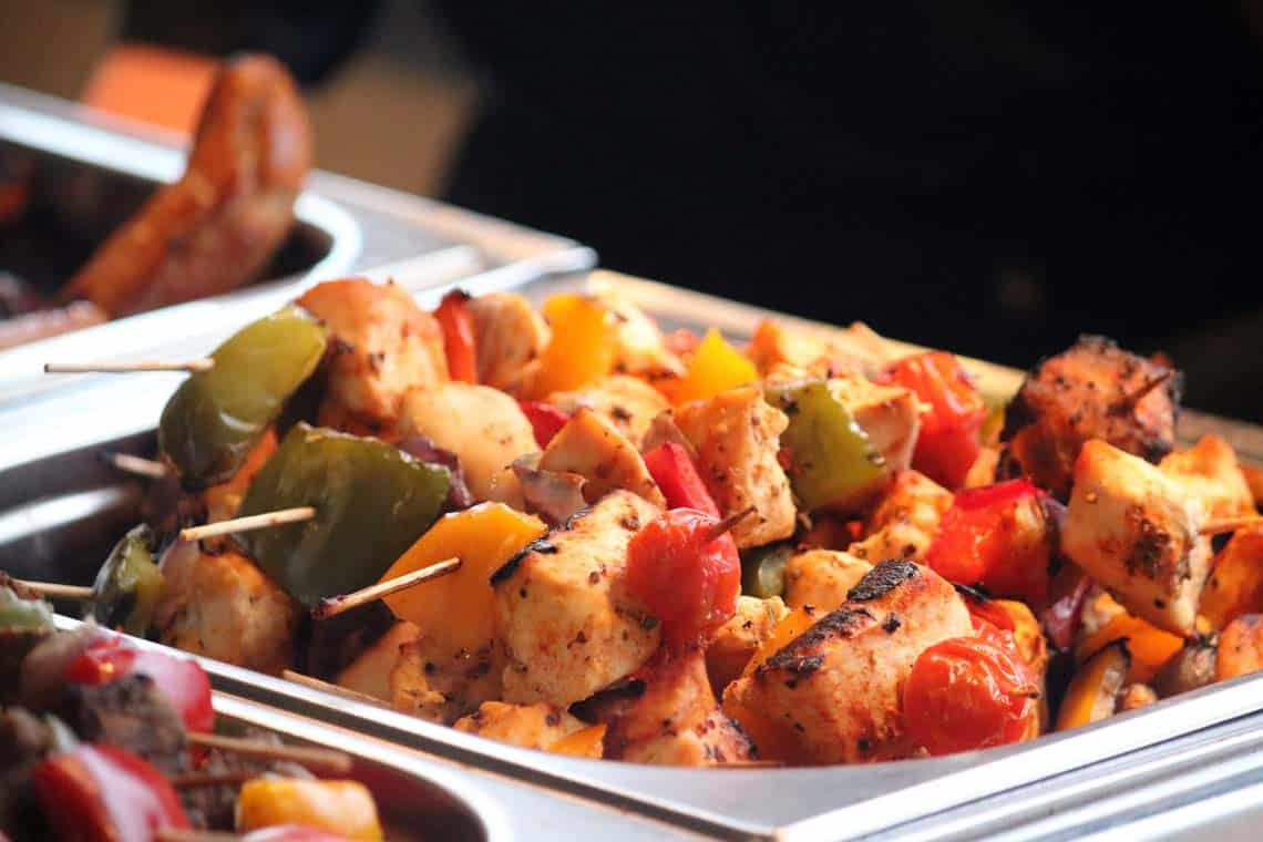 Grilled Suffolk Chicken Kebabs