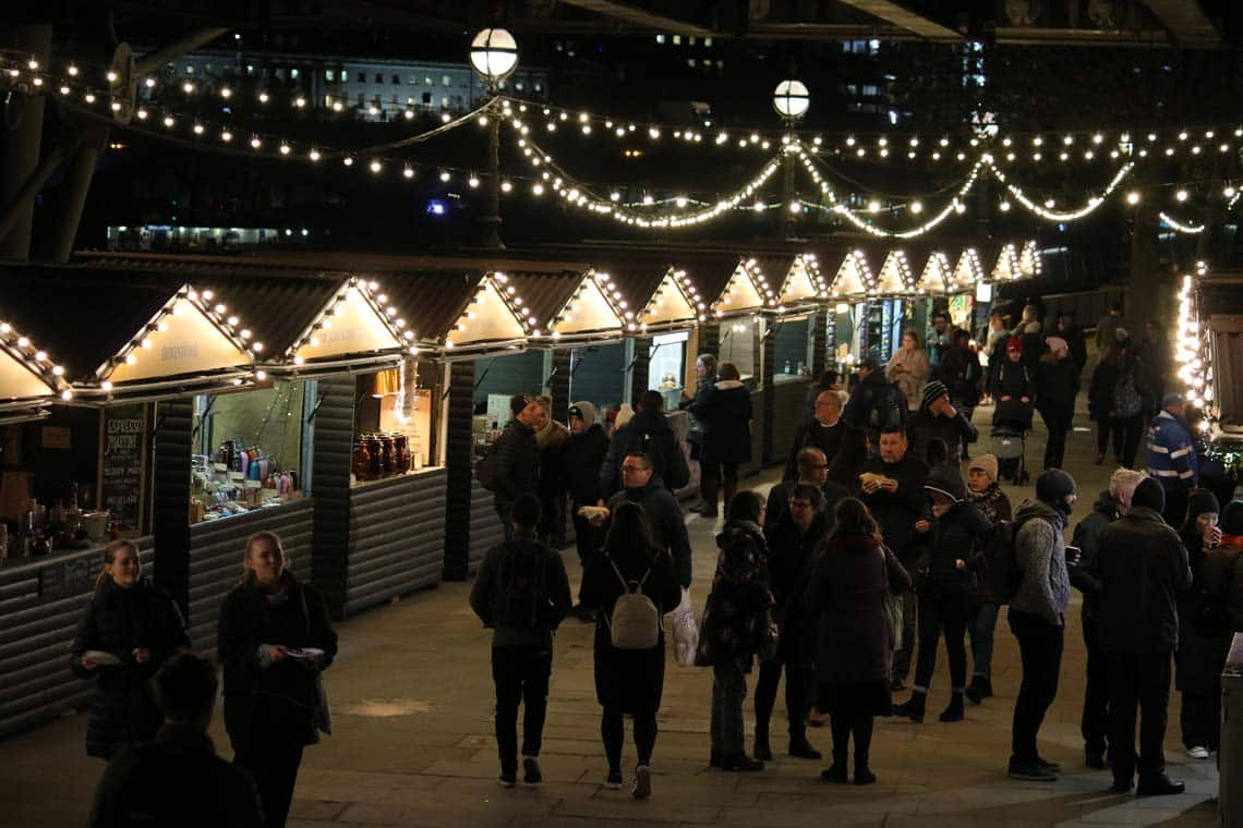 Southbank Centre Winter Market, Winter Food Huts