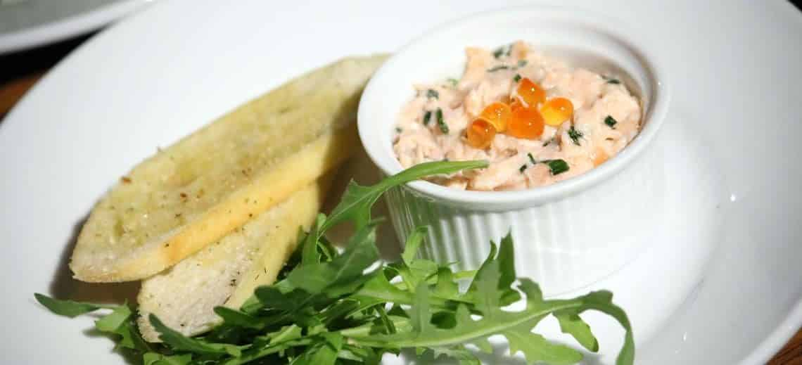 Poached Salmon Rillettes with Keta Caviar
