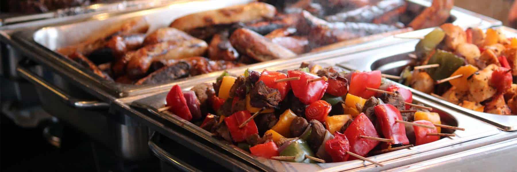 Aberdeen Angus Beef Burgers, Grilled Cumberland Sausages & Welsh Lamb Kofta Kebabs
