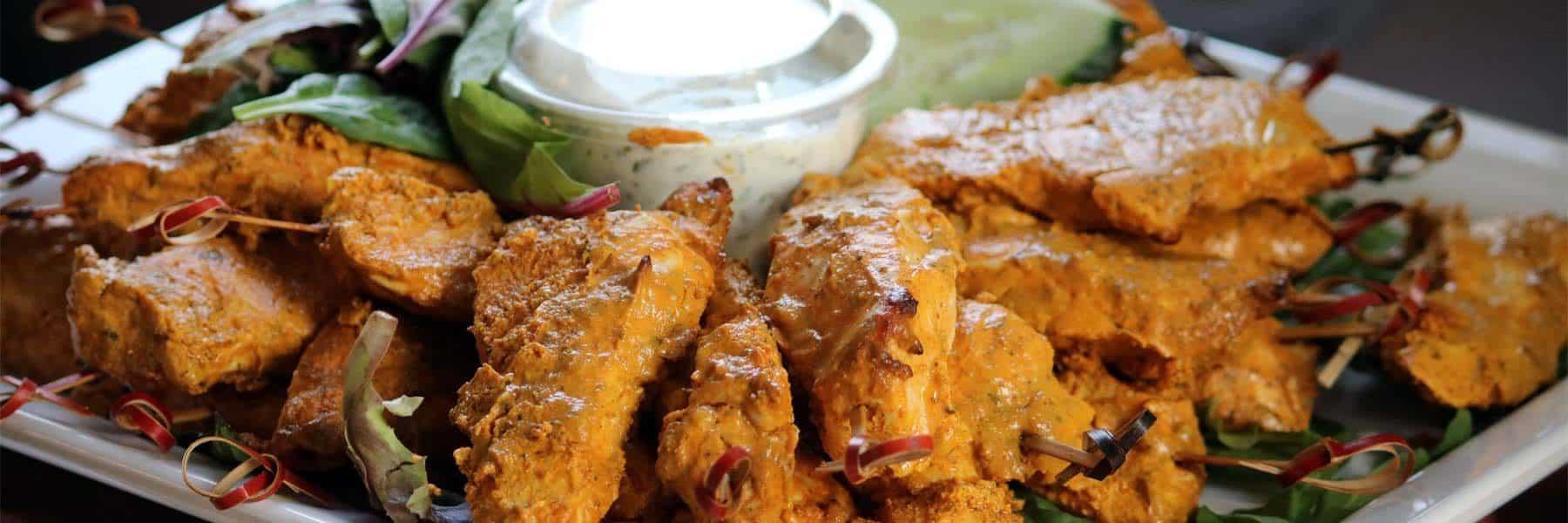Chicken Tikka Skewers with Raita