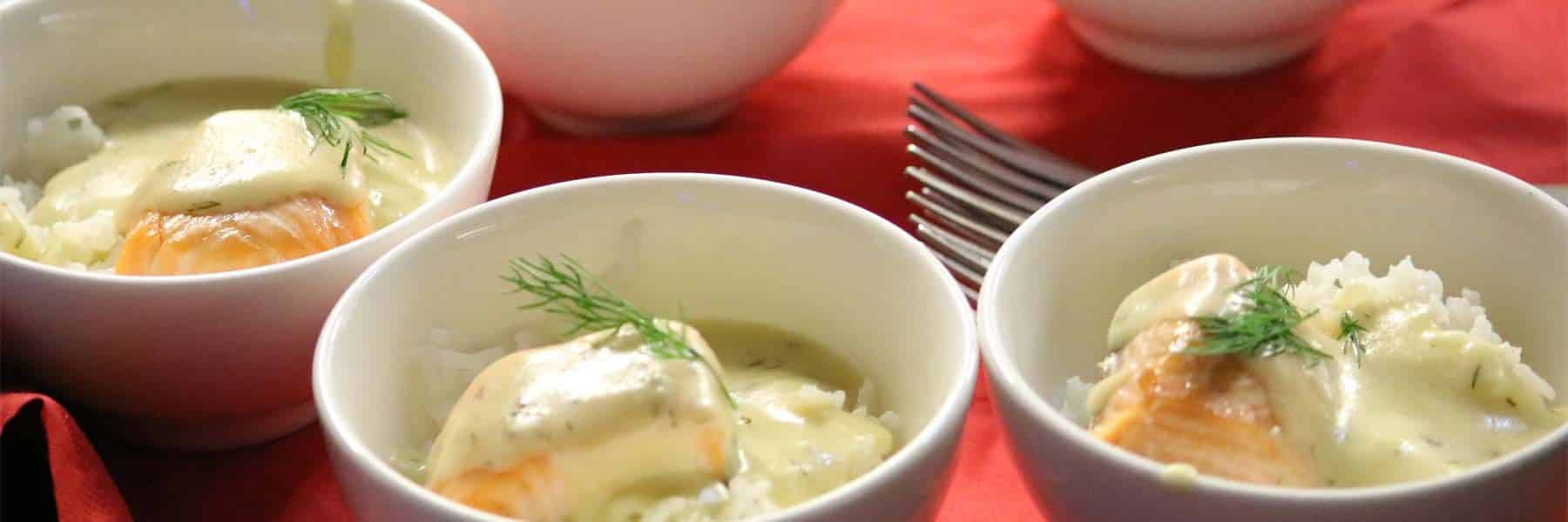 Roasted Salmon with Dill & Lemon Sauce