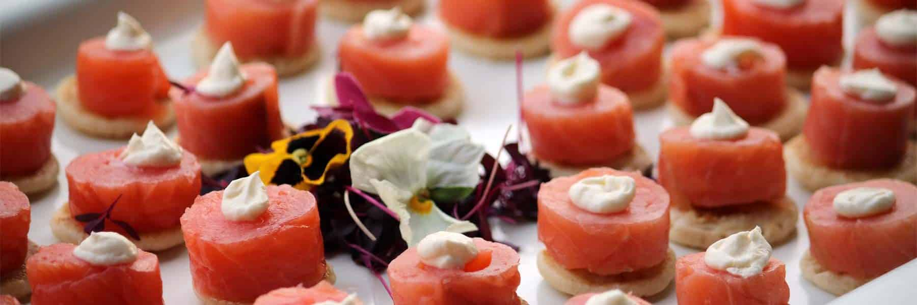 Smoked Salmon & Cream Cheese Blini