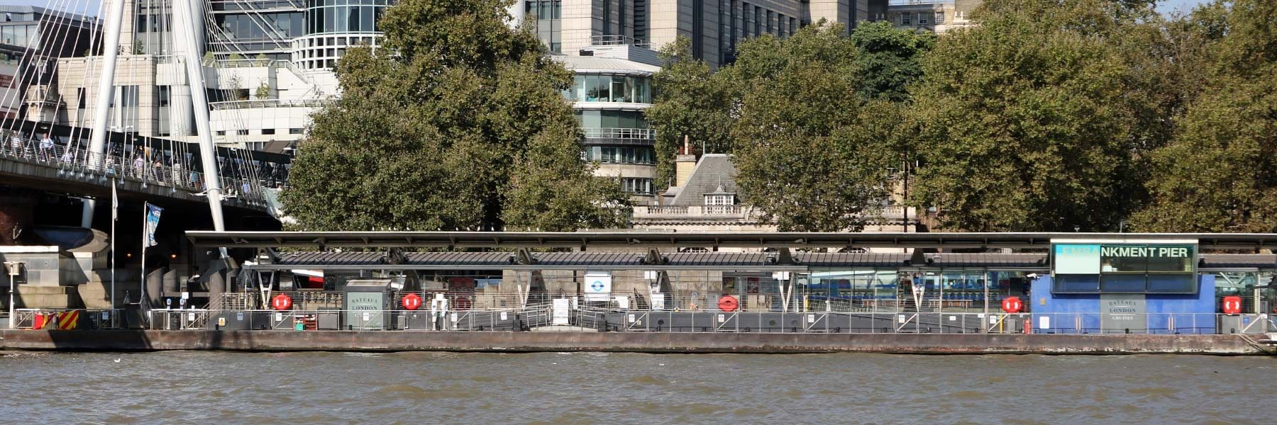 Embankment Pier, Victoria Embankment, London