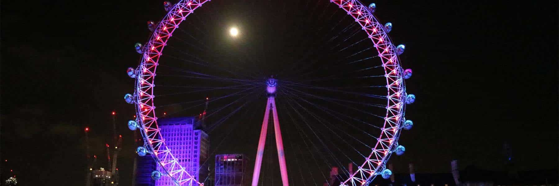 London Eye on New Year's Eve