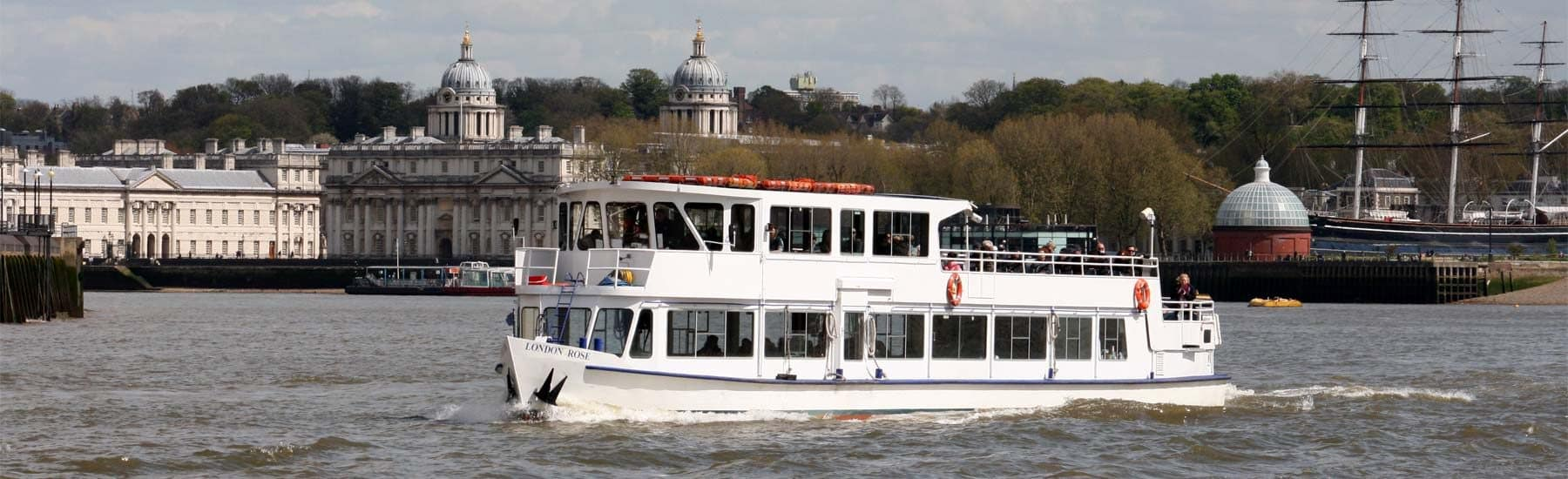 Our Fleet, M.V London Rose passing the Royal Borough of Greenwich