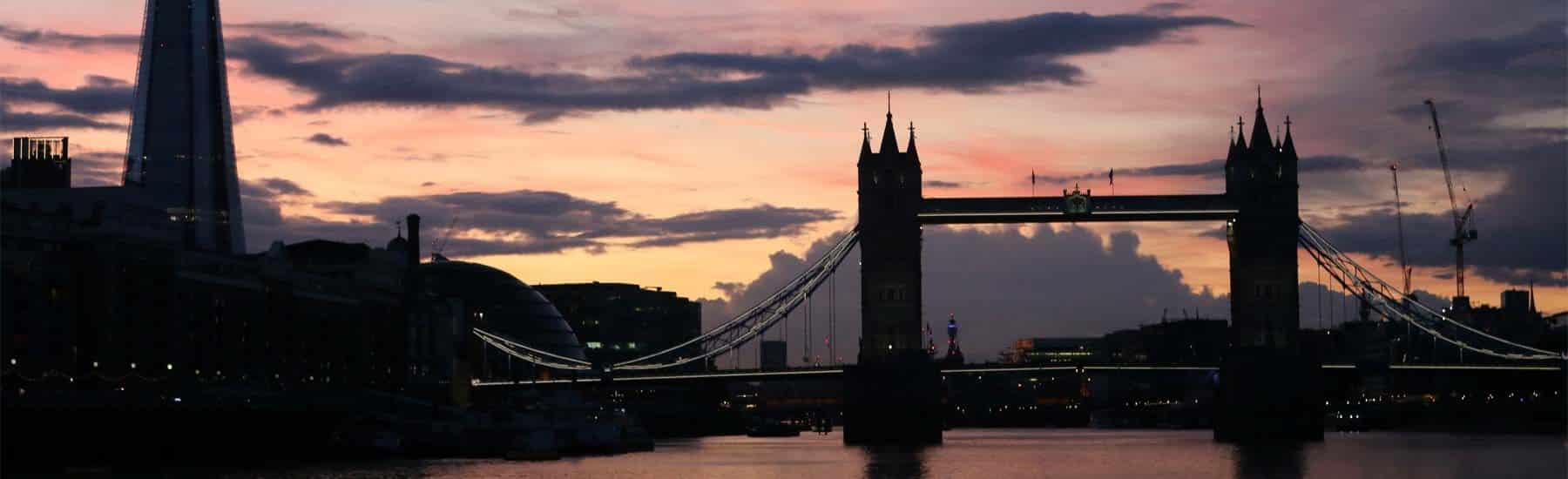 Thames Sunday Evening Cruise, The Shard & Tower Bridge