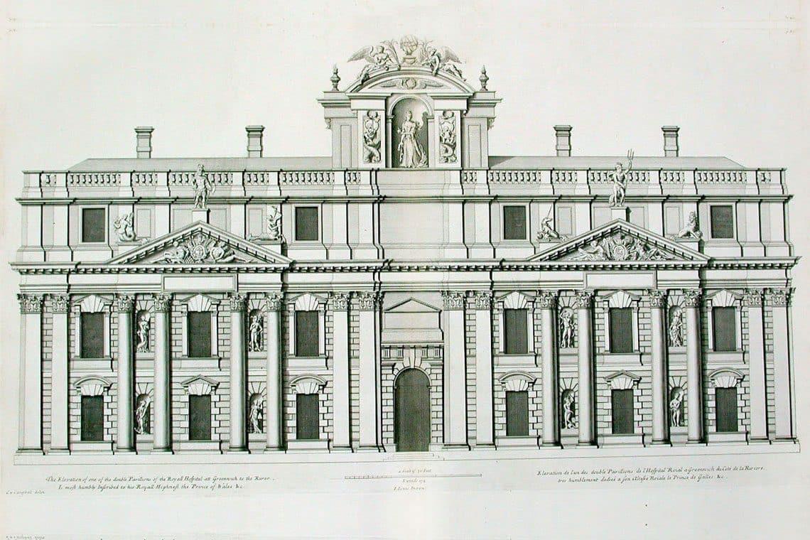 King Charles Court, designed by John Webb.