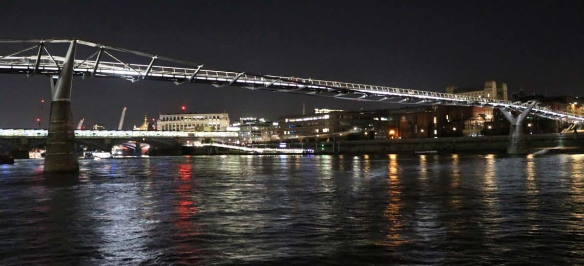 Millennium Bridge & the Illuminated River Project