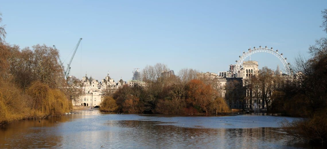 View from the Blue Bridge, St. James Park