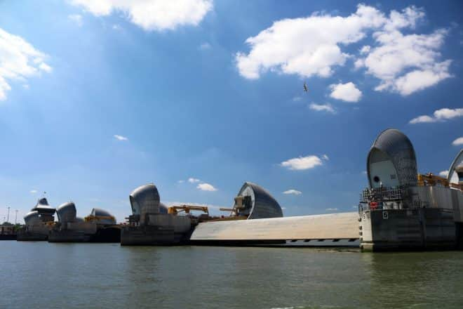The Thames Barrier, Delta Span in the Maintenance Position