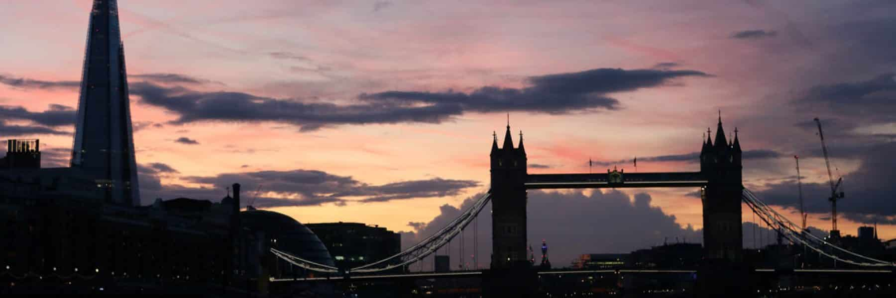 The Shard & Tower Bridge at sunset