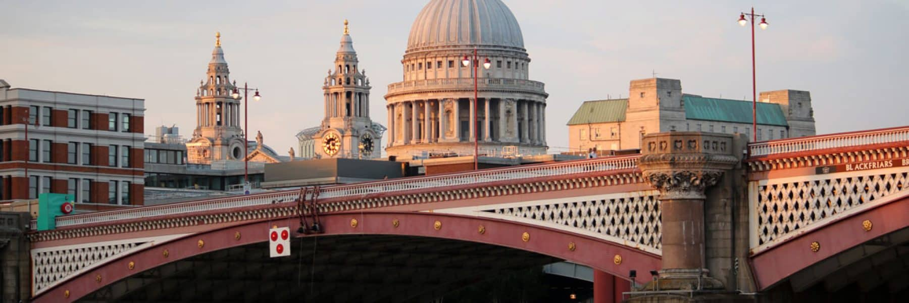 St. Paul's Cathedral & Blackfriars Road Bridge at dusk