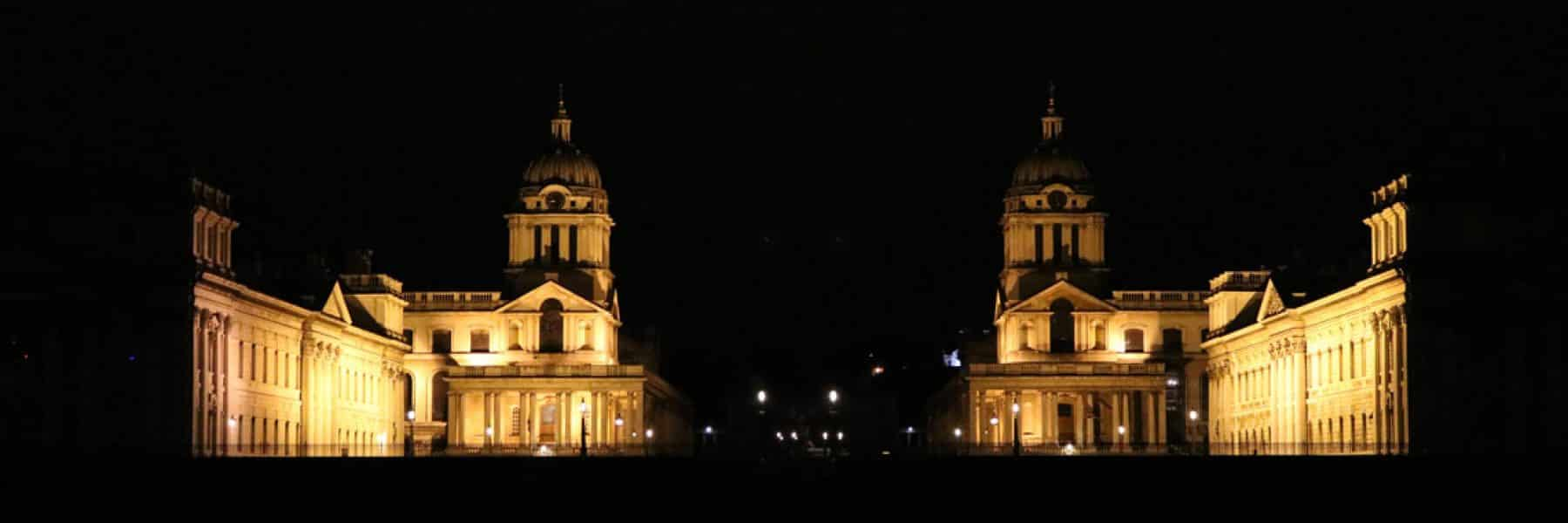 The Old Royal Naval College at night