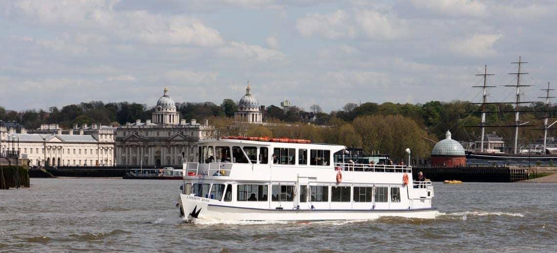 M.V London Rose at the Royal Borough of Greenwich