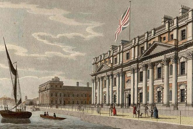 The Royal Hospital for Seamen, designed by Sir Christopher Wren.