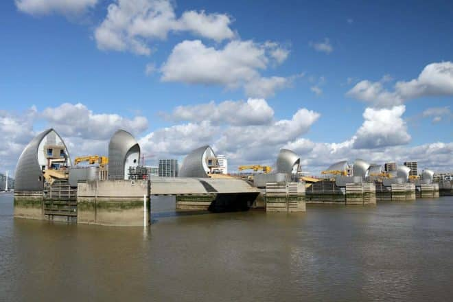 The View from the Thames Barrier Information Centre
