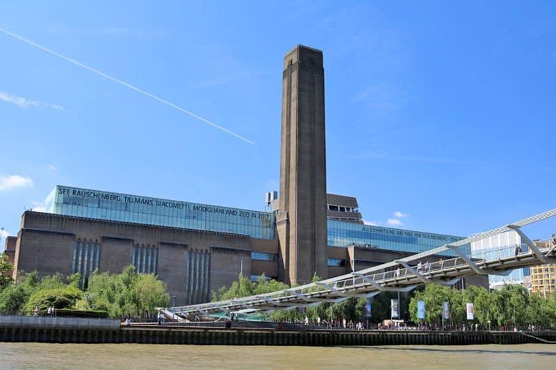 The Millennium Bridge & Tate Modern, Bankside, London Borough of Southwark