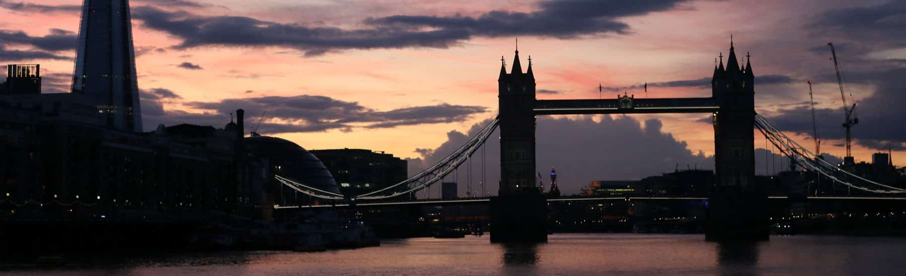 The Shard & Tower Bridge at Dusk, Sunday Evening Cruise