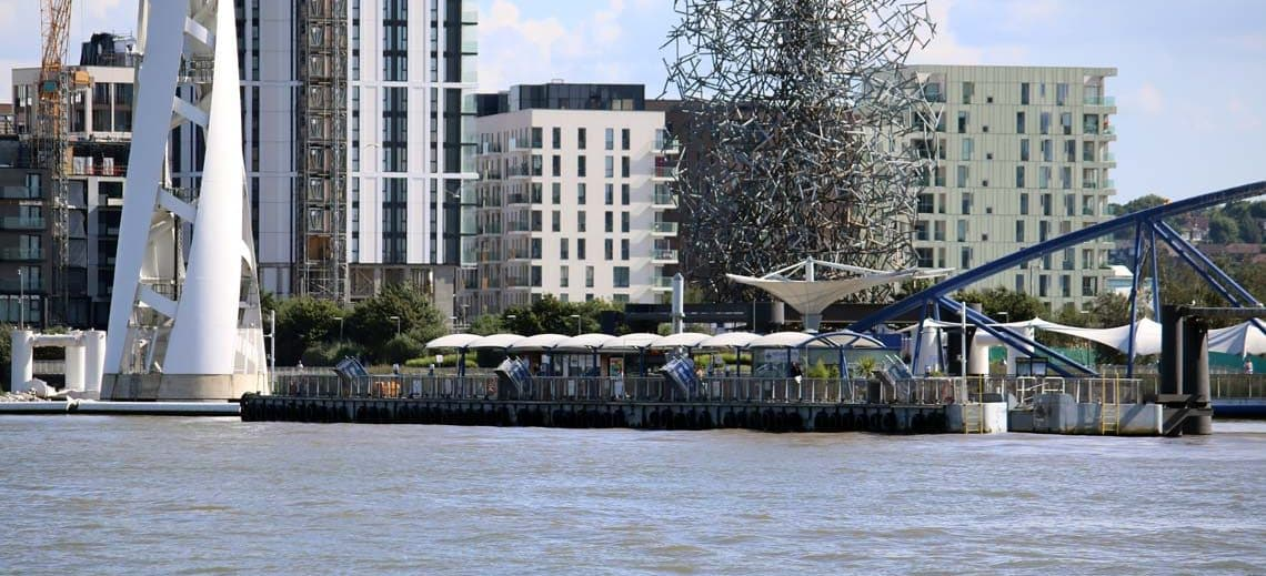 North Greenwich Pier, Greenwich Peninsula, Royal Borough of Greenwich
