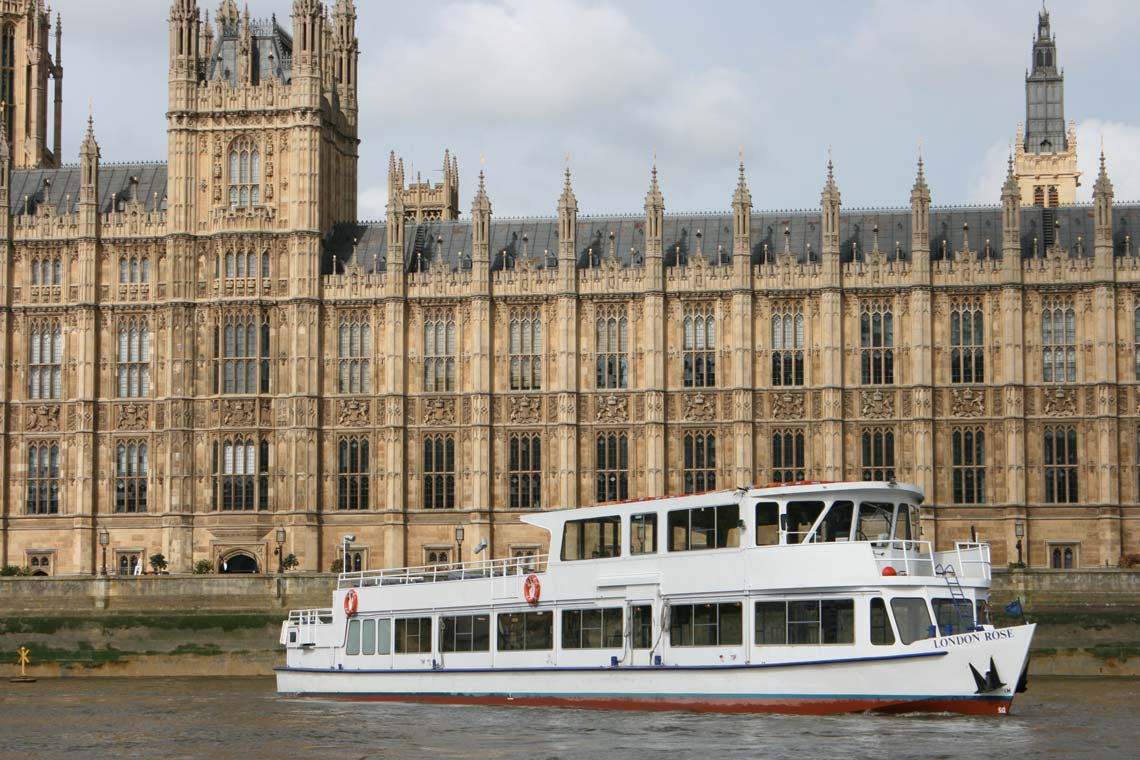 M.V London Rose at the New Palace of Westminster