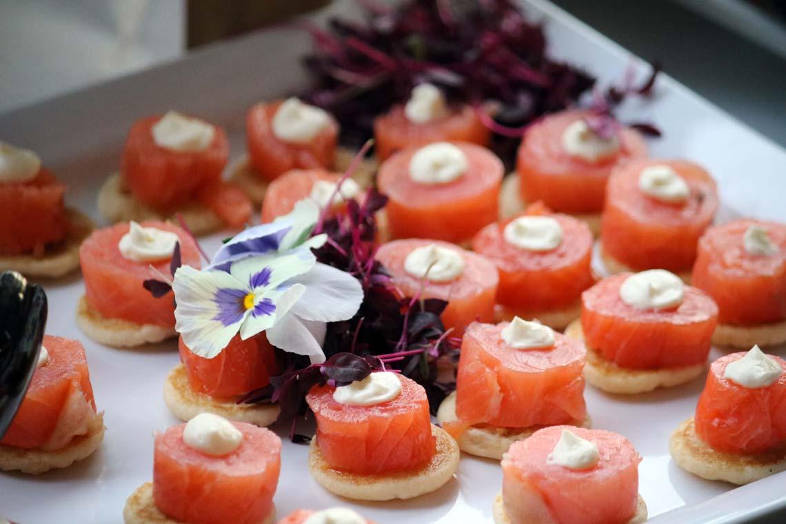 Smoked Salmon & Cream Cheese Blini