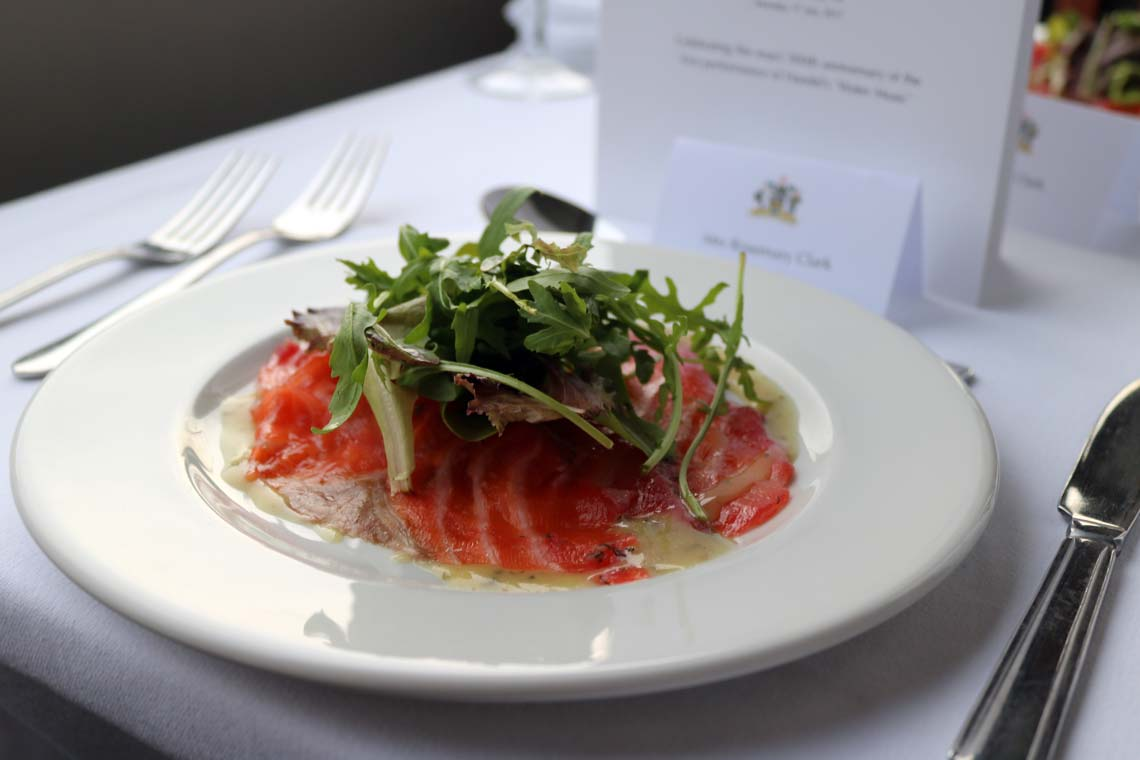Beetroot Cured Salmon with Soured Cream & Caviar