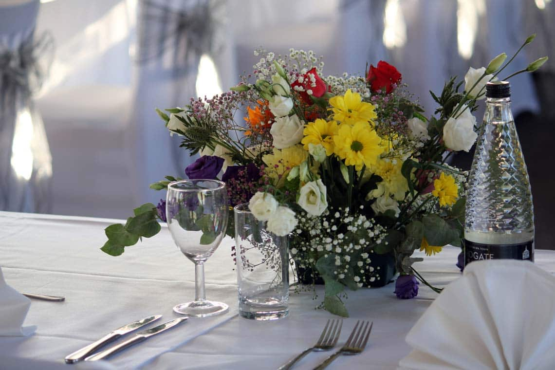 Table Linen & Fresh Flowers