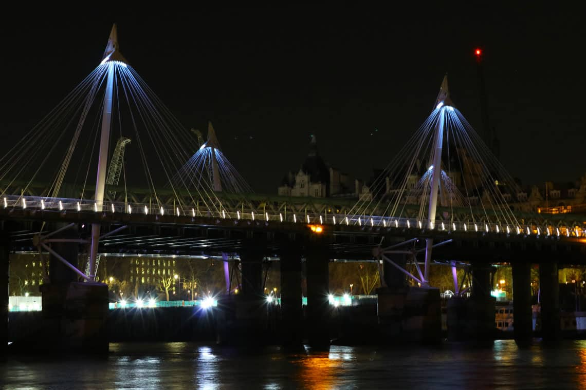 Charing Cross Railway Bridge, the Golden Jubilee Walkways & the Illuminated River Project