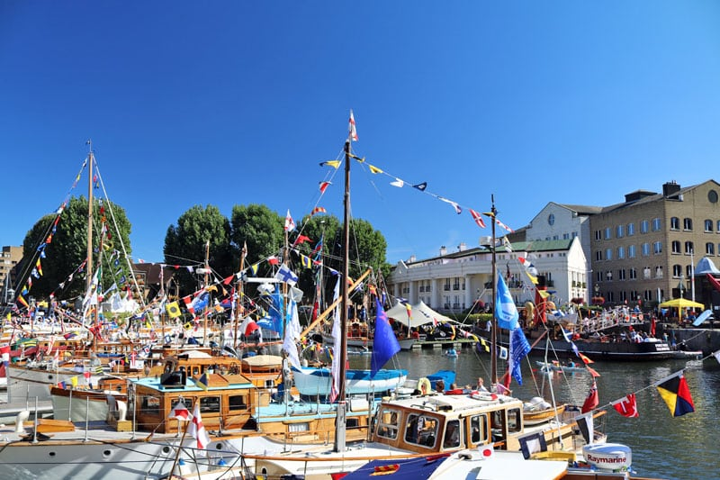 The Classic Boat Festival at St. Katharine Dock, London Borough of Tower Hamlets