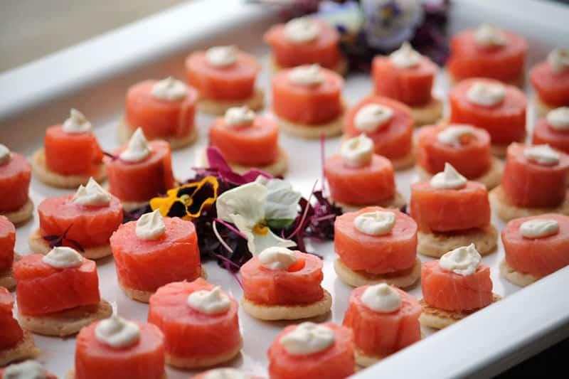 Celebration Cruises in London, Smoked Salmon & Cream Cheese Blinis