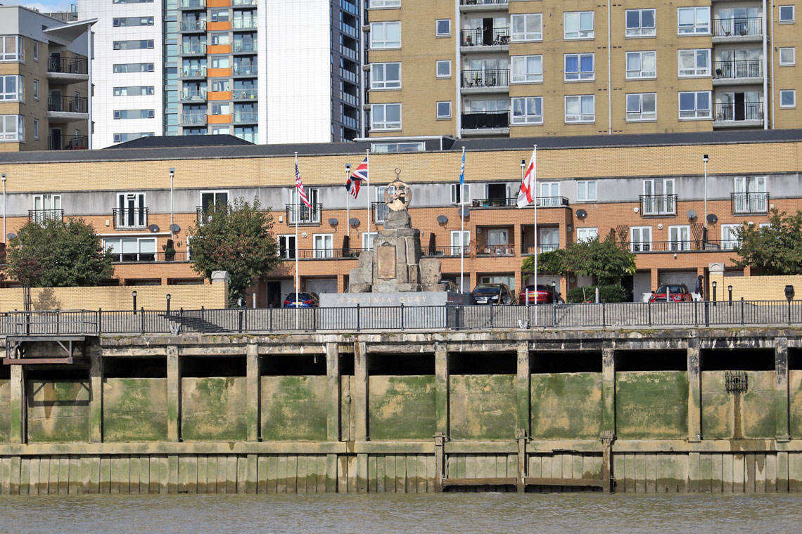 Virginia Quay Settlers Monument, Brunswick Wharf