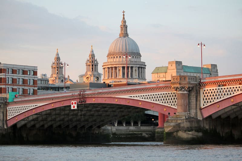 Blackfriars Road Bridge & St. Paul's Cathedral, City of London