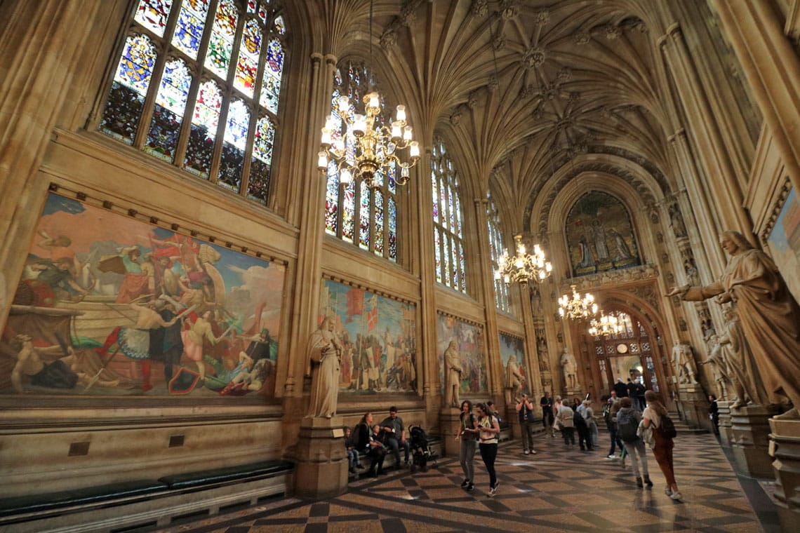 St. Stephens Hall, New Palace of Westminster (Houses of Parliament)