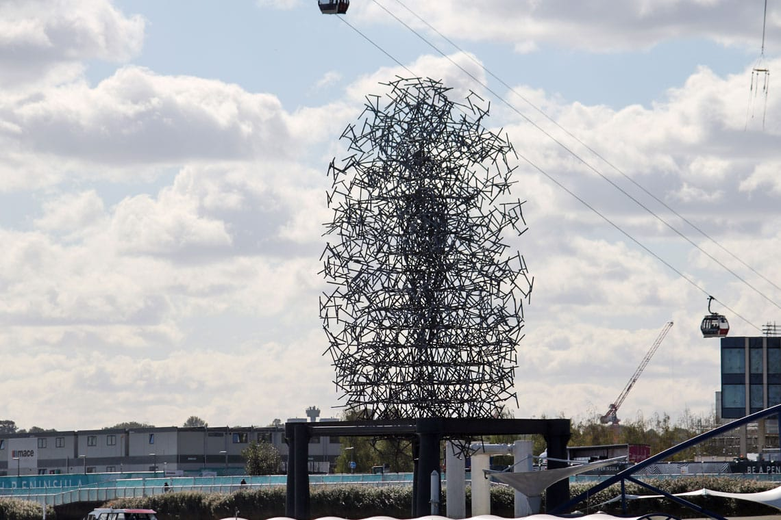 Quantum Cloud by Antony Gormley, North Greenwich, Royal Borough of Greenwich